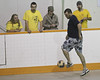 Indoor soccer at the Moosonee arena 2010 June 3, championship games.
