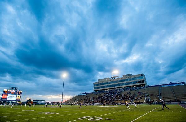 Juab High School battles the Morgan Trojans during the 3-A semifinal game on Friday November 3, 2017, at Stewart Stadium in Ogden.