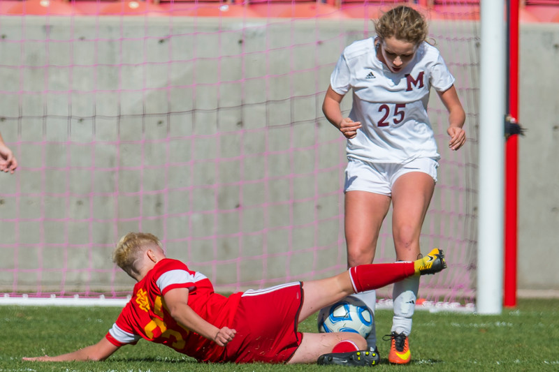Morgan High School girls soccer team smashes Judge Memorial  4-1, during the girls 3A state championships, on Saturday October 21, 2017 at Rio Tinto Stadium in Sandy.