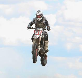 Dalton's Jason Gartner Skys over a jump in the Vet-A class at the Alliance Motocross on Sunday.
