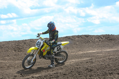 Bridgeport's Markus Harden takes the curve in class 85cc at Alliance Motocross on Sunday.