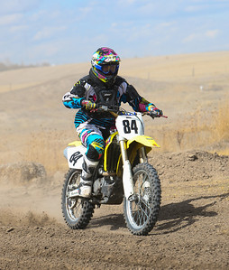Bridgeport's Michael Harden accelerates in the straightaway in Vet class at Alliance Motocross on Sunday.