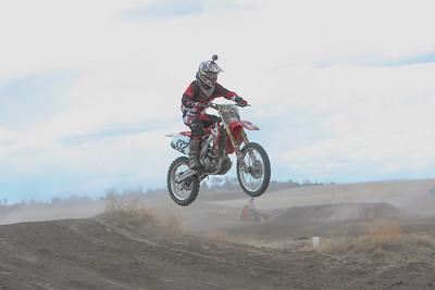 Bridgeport's Taran Draper Skys over a jump in the Open Non-Pro class at Alliance Motocross on Sunday.