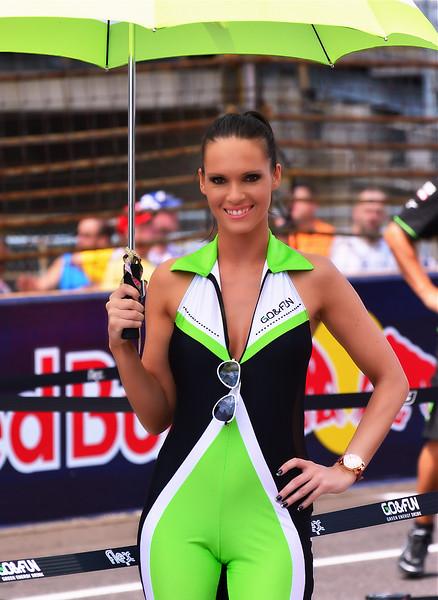 MotoGP Umbrella Girl Go and Fun at Indy RedBull GP