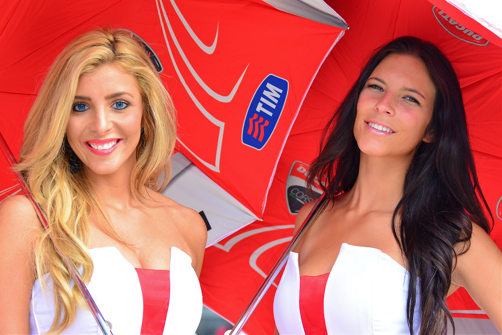 Ducati MotoGP Umbrella Girls Indianapolis RedBull GP