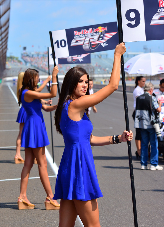 MotoGP Grid Girls all in a Row RedBull Indianapolis Grand Prix