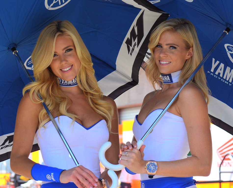 Yamaha Factory Racing MotoGP Umbrella Girls RedBull Indy