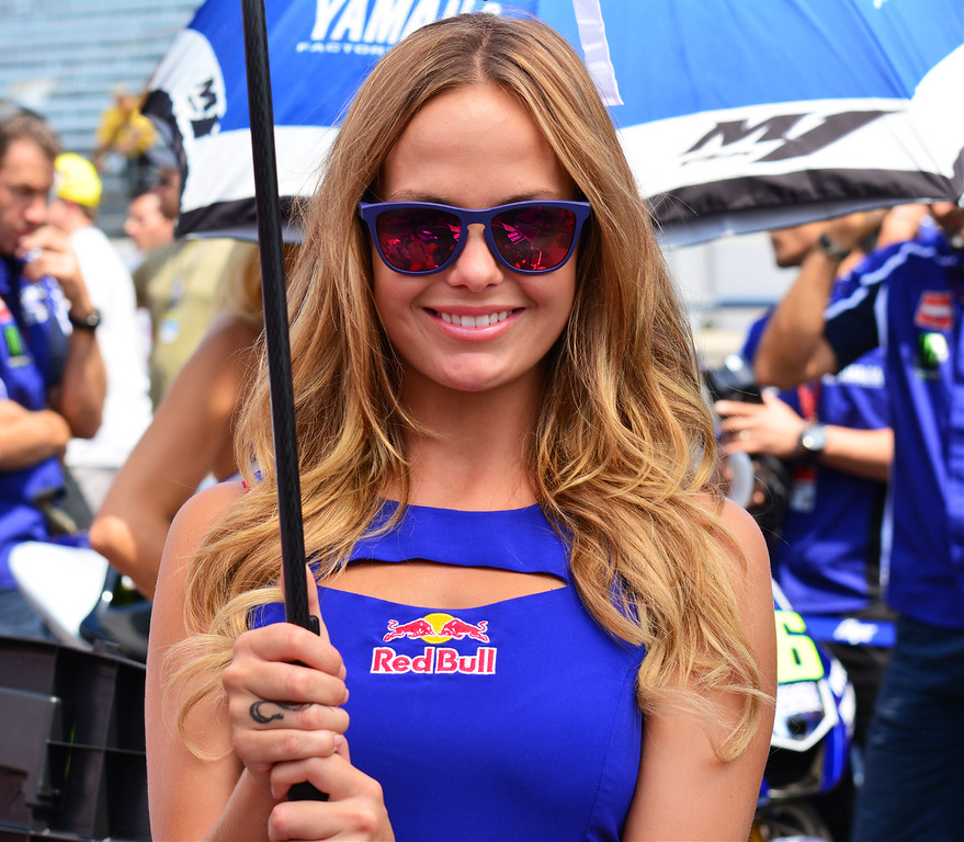 MotoGP Grid Girl Umbrella Girl RedBull Grand Prix Indy