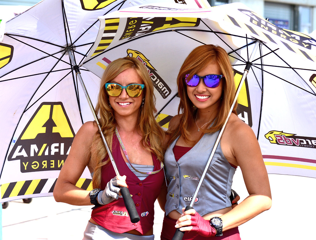 MotoGP Umbrella Girls Indianapolis RedBull GP