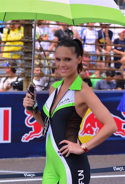 MotoGP Umbrella Girl Go and Fun Indy RedBull GP
