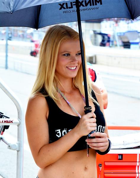MotoGP Jagermeister Umbrella Girl Paddock RedBull GP
