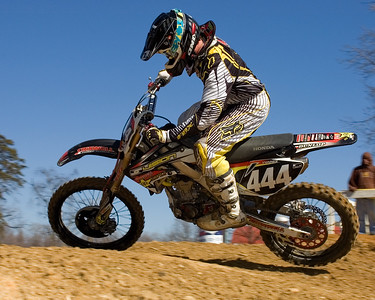 Chad Wages runs up front in moto II of the Pro Sport A