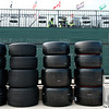 June 3, 2012; Detroit, MI, USA; A detail view of tires before the Chevrolet Detroit Grand Prix at Belle Isle. Mandatory Credit: Tim Fuller-US PRESSWIRE
