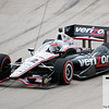 June 3, 2012; Detroit, MI, USA; IndyCar Series driver Will Power (12) enters turn one during the Chevrolet Detroit Grand Prix at Belle Isle. Mandatory Credit: Tim Fuller-US PRESSWIRE
