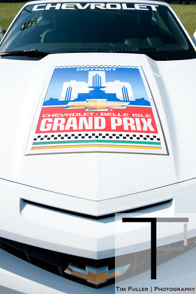 June 3, 2012; Detroit, MI, USA; A detail view of the pace car before the Chevrolet Detroit Grand Prix at Belle Isle. Mandatory Credit: Tim Fuller-US PRESSWIRE