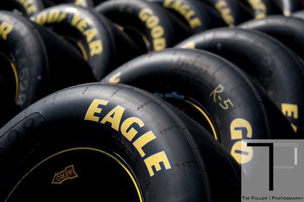 June 15, 2012; Brooklyn, MI, USA; A detail view of NASCAR Sprint Cup Series  tires during practice for the Quicken Loans 400 at Michigan International Speedway Mandatory Credit: Tim Fuller-US PRESSWIRE