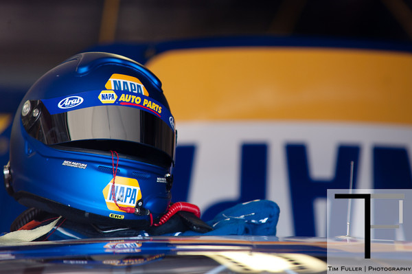 June 15, 2012; Brooklyn, MI, USA; A detail view of the helmet of NASCAR Sprint Cup Series driver Martin Truex Jr. (not pictured) during practice for the Quicken Loans 400 at Michigan International Speedway Mandatory Credit: Tim Fuller-US PRESSWIRE