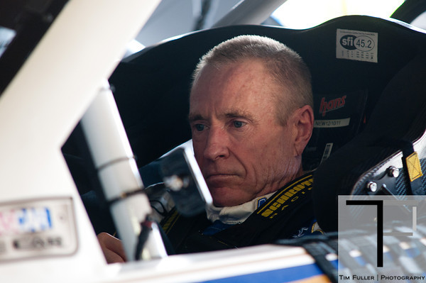 Aug 17, 2012; Brooklyn, MI, USA; NASCAR Sprint Cup Series driver Mark Martin (55) during practice for the Pure Michigan 400 at Michigan International Speedway. Mandatory Credit: Tim Fuller-US PRESSWIRE
