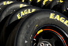 Aug 17, 2012; Brooklyn, MI, USA; A detailed view of tires before the practice for the Pure Michigan 400 at Michigan International Speedway. Mandatory Credit: Tim Fuller-US PRESSWIRE