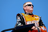Aug 17, 2012; Brooklyn, MI, USA; NASCAR Sprint Cup Series driver Jeff Burton (31) watches from atop of his trailer during practice for the Pure Michigan 400 at Michigan International Speedway. Mandatory Credit: Tim Fuller-US PRESSWIRE