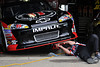 Aug 17, 2012; Brooklyn, MI, USA; A mechanic works on the car of NASCAR Sprint Cup Series driver Kevin Harvick (29) before the practice for the Pure Michigan 400 at Michigan International Speedway. Mandatory Credit: Tim Fuller-US PRESSWIRE