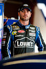Aug 17, 2012; Brooklyn, MI, USA; NASCAR Sprint Cup Series driver Jimmie Johnson (48) during practice for the Pure Michigan 400 at Michigan International Speedway. Mandatory Credit: Tim Fuller-US PRESSWIRE