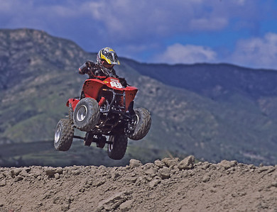 Grandson, John Lasley on track.  Lake Elsinore, California.