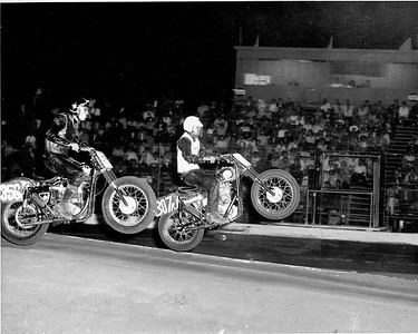 I'm riding 307r.   El Cajon speedway, El Cajon, California.  1963
