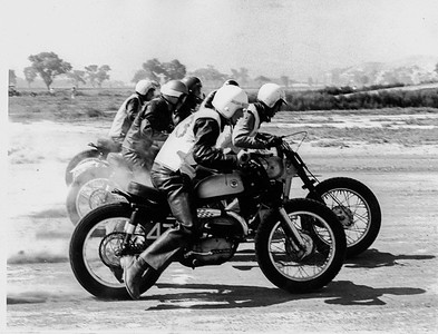 I'm closest rider.  Looks like I have second place pretty much in the bag!   Corona, California. 1964.