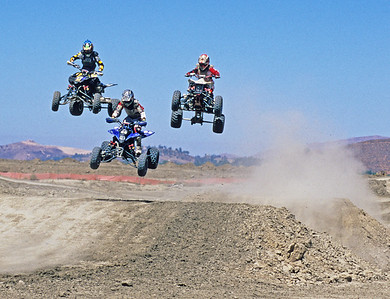 Dan Brooks on left and other riders.  Lake Elsinore, California.