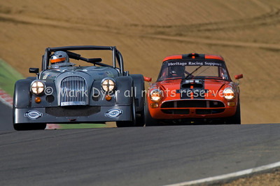 Morgan Plus 8 & Sunbeam Tiger at Hailwood Hill