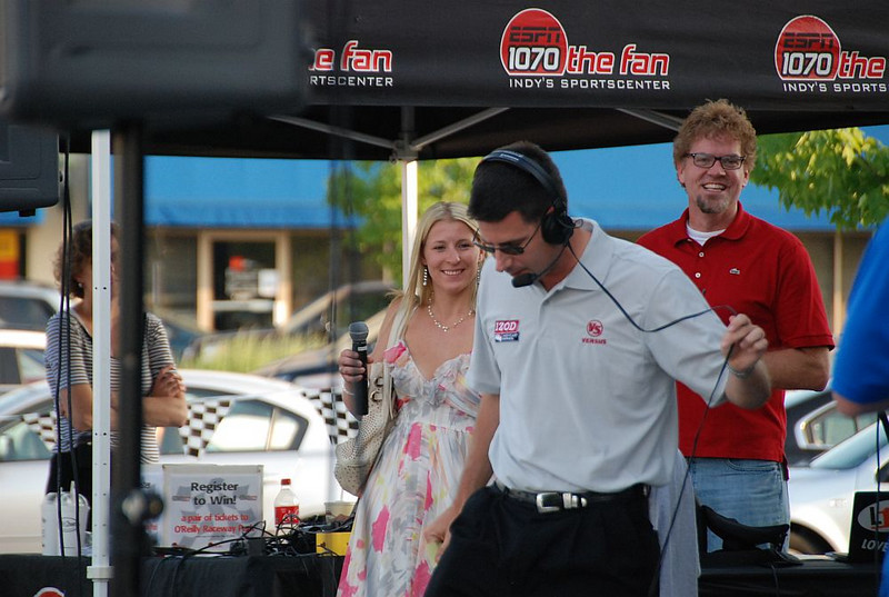 Pippa Mann, Kevin Lee, and wait - is that Bruce Martin's brother?