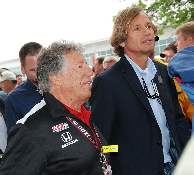 """Legend @MarioAndretti on his way to the big """"all living drivers in attendance"""" photo shoot."""