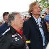 "Legend @MarioAndretti on his way to the big ""all living drivers in attendance"" photo shoot."