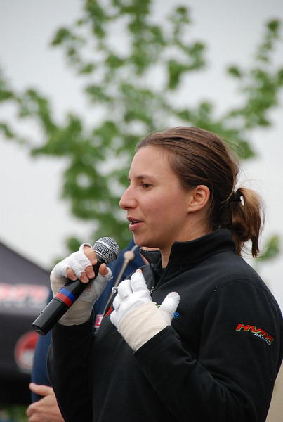 """@simdesilvestro Simona de Silvestro, still sporting her """"Mickey Mouse"""" gloves after receiving burns to her hands in a crash. Her good spirits and courage after the accident won her a ton of new fans."""