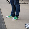 Simona's shoes match her Entergy Nuclear racing machine (the only car in the field with a Twitter account - @78_PORKCHOP).
