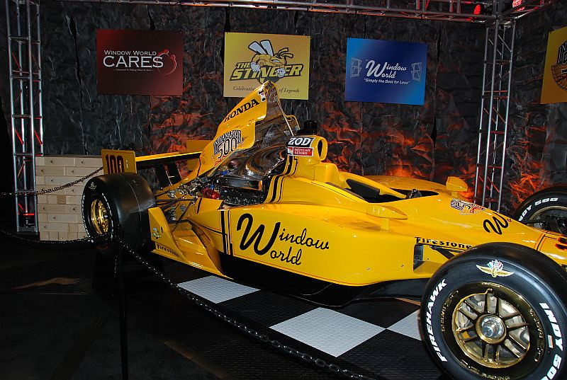 The Stinger - eventually this car was covered with the signatures of all drivers who qualified for the race, past and present.