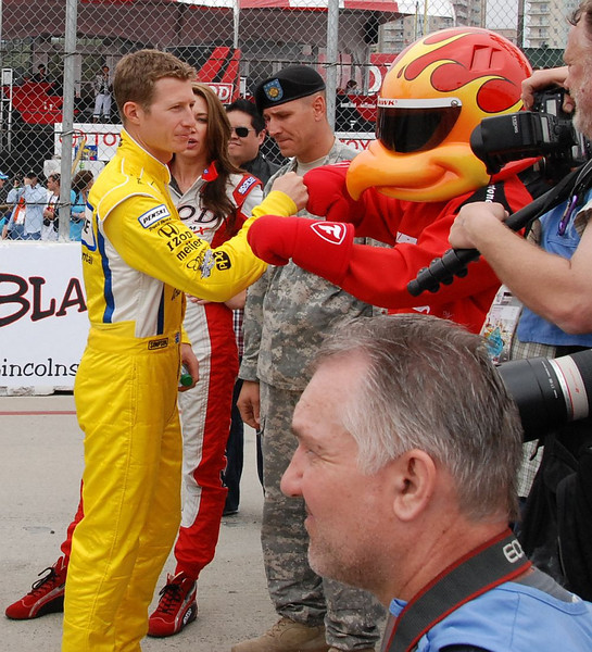 Ryan Briscoe and the Firehawk have the bump down.
