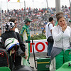 Simona de Silvestro prepares to race