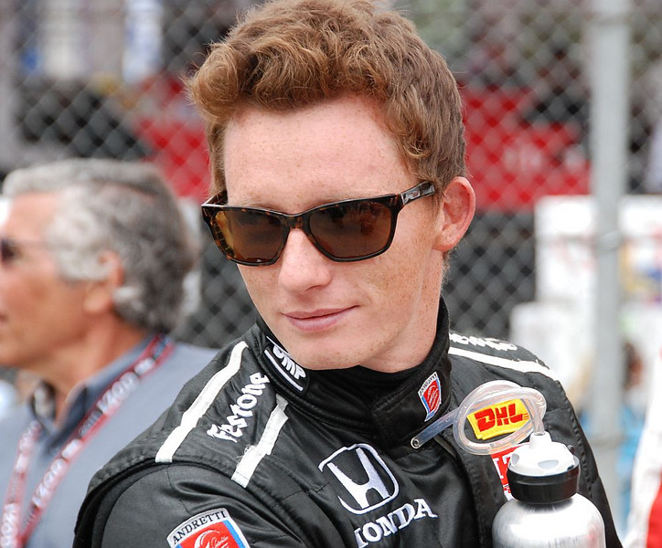 Race winner Mike Conway