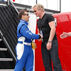 Oriol Servia with Grand Marshall Gordon Ramsay