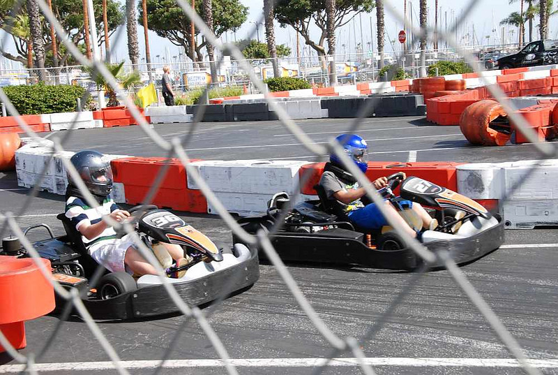 One of the attractions is a go-kart track.