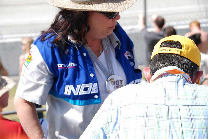 """This fan's badge said """"I am NOT Indy - Champ Car Forever"""""""