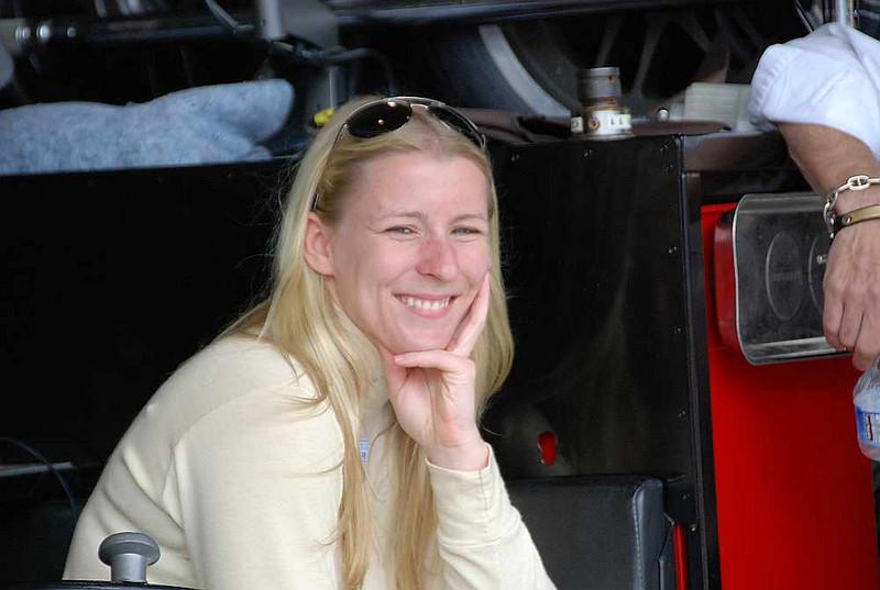Firestone Indy Lights driver Pippa Mann.