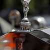 The Spirit of Ecstasy on the hood of a 1925 Rolls Royce known as Ghost25.