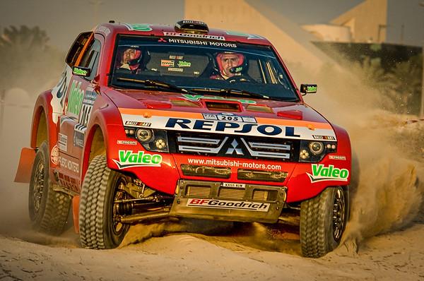 Stephane Peterhansel & J-P Cottret, Repsol Mitsubishi Ralliart - Mitsubishi Pajero EVO ~ UAE Desert Challenge 2007