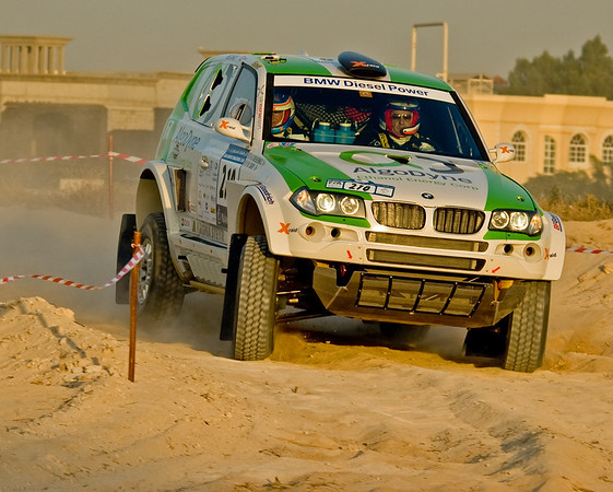 Bruno Saby & Alain Guehennec driving Colin McRae's BMW X3 ~ UAE Desert Challenge 2007