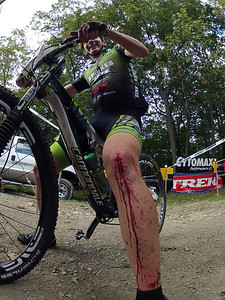 How do you know you rode Michaux - either your bike is broke or you are bleeding.