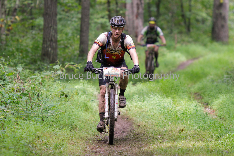 Jason Miller rolls into checkpoint 4 at Braley Pond. Swampy conditions on the final two miles of this section took a toll on racers.