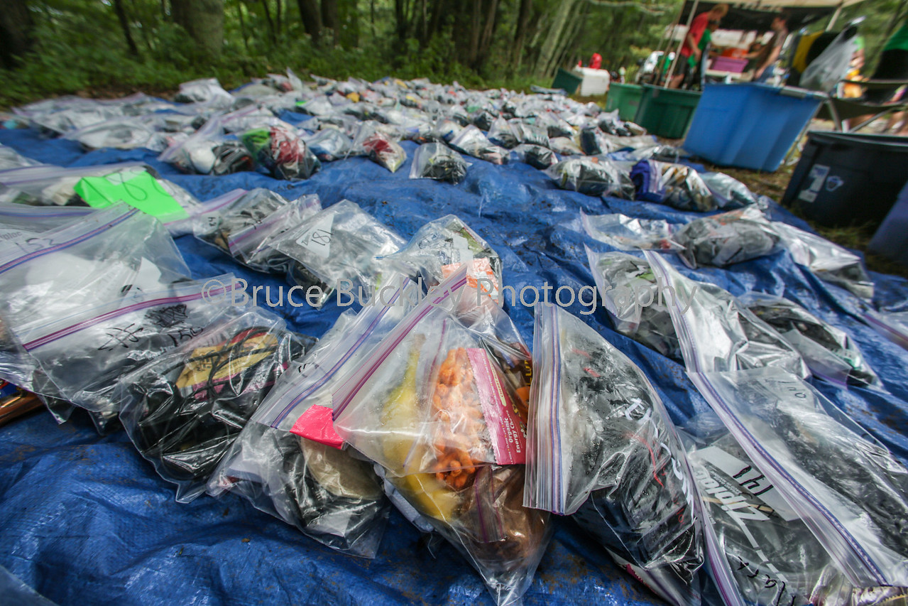 Drop bags full of lights, food and other essentials at checkpoint 5. Many racers battle cramps, fatigue and delirium by this point. Some will finish the race in the dark.